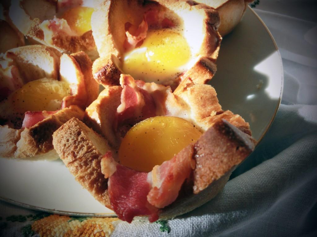 Toastmuffins mit Ei und Speck_1